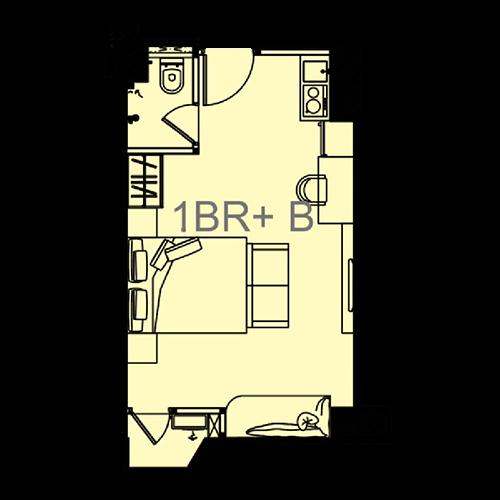 tower victoria - Unit-Plan-1BR-EXECUTIVE-B-Victoria